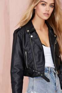 Nasty Gal - Moto Zip Crop Jacket $88
