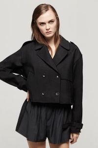 Rag & Bone  - Black Marshall Cropped Trench $695