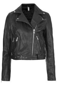 Top Shop - Premium Belted Leather Biker Jacket $370