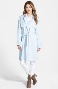 Vince Camuto - Draped Wrap Long Trench Coat $190